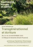Stage  Frontière(s), marges et confins  Transgénérationnel et écriture