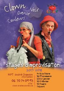 Stage clown,danse, couleurs