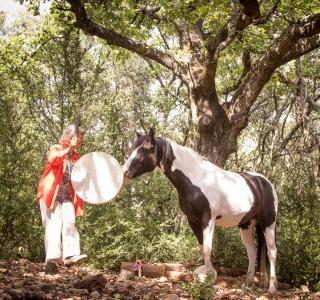Rituel d'inspiration chamanique avec les chevaux-guérisseurs