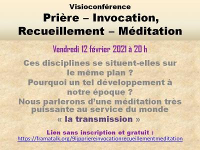 Prières, Invocations - Recueillement Méditation