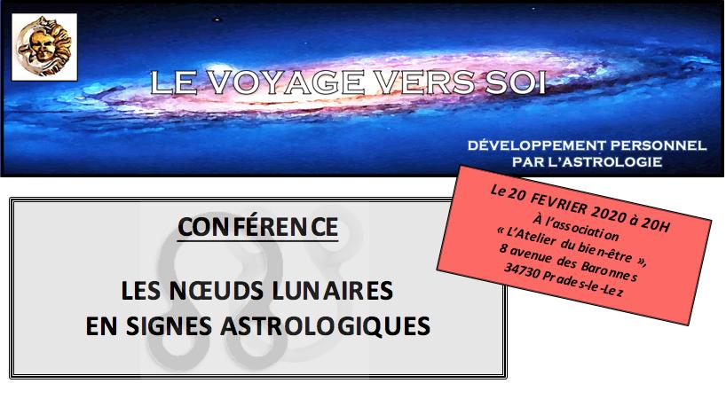 Conférence sur les Noeuds Lunaires en signes astrologiques